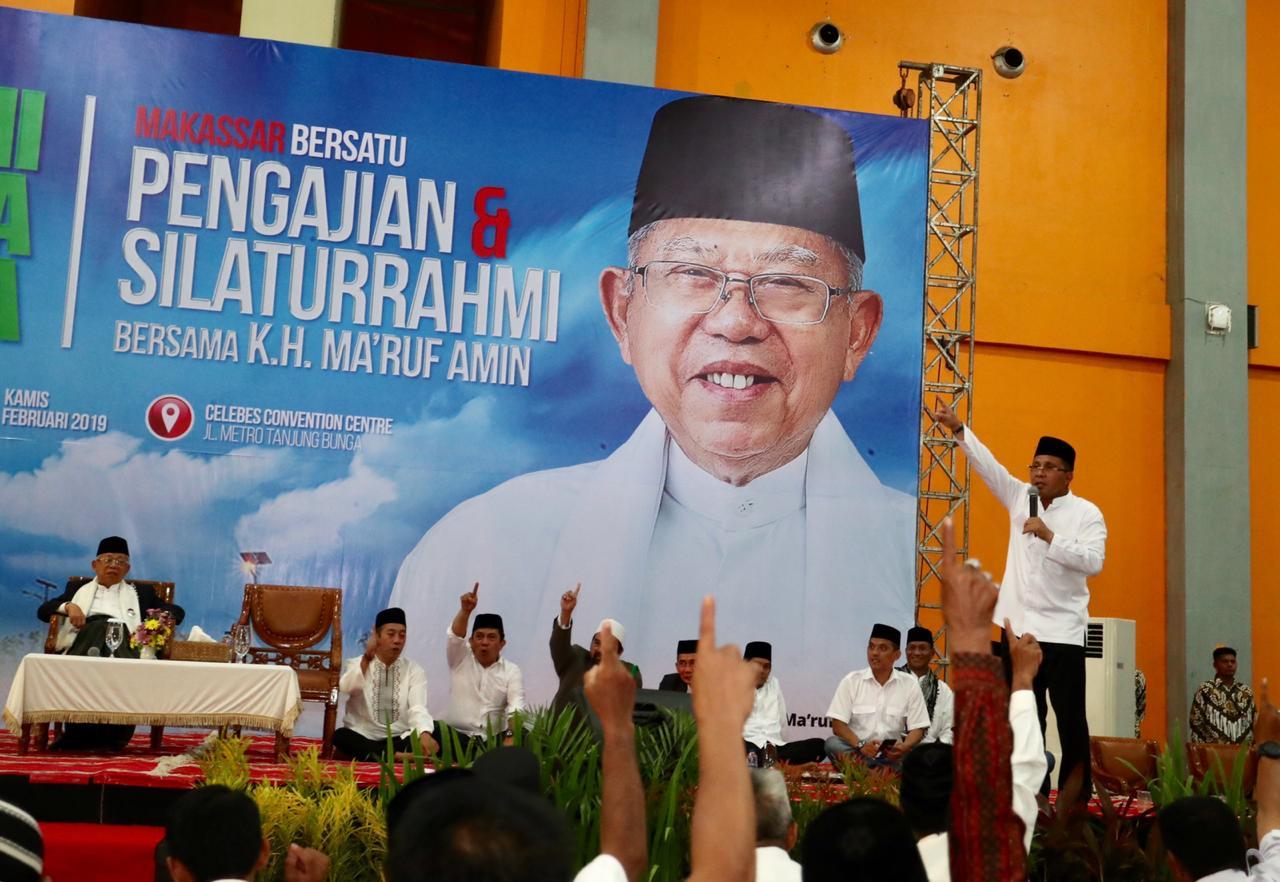 Cinta Ulama, 15 Ribu Warga Makassar Silaturrahmi dengan Ma'ruf Amin