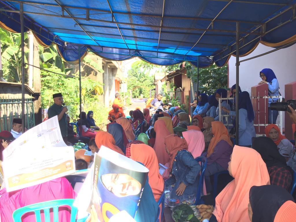 Di Kampung Muhajirin Bangkala, Warga Sambut Antusias Caleg DPR RI Nasdem Aura Aulia DP