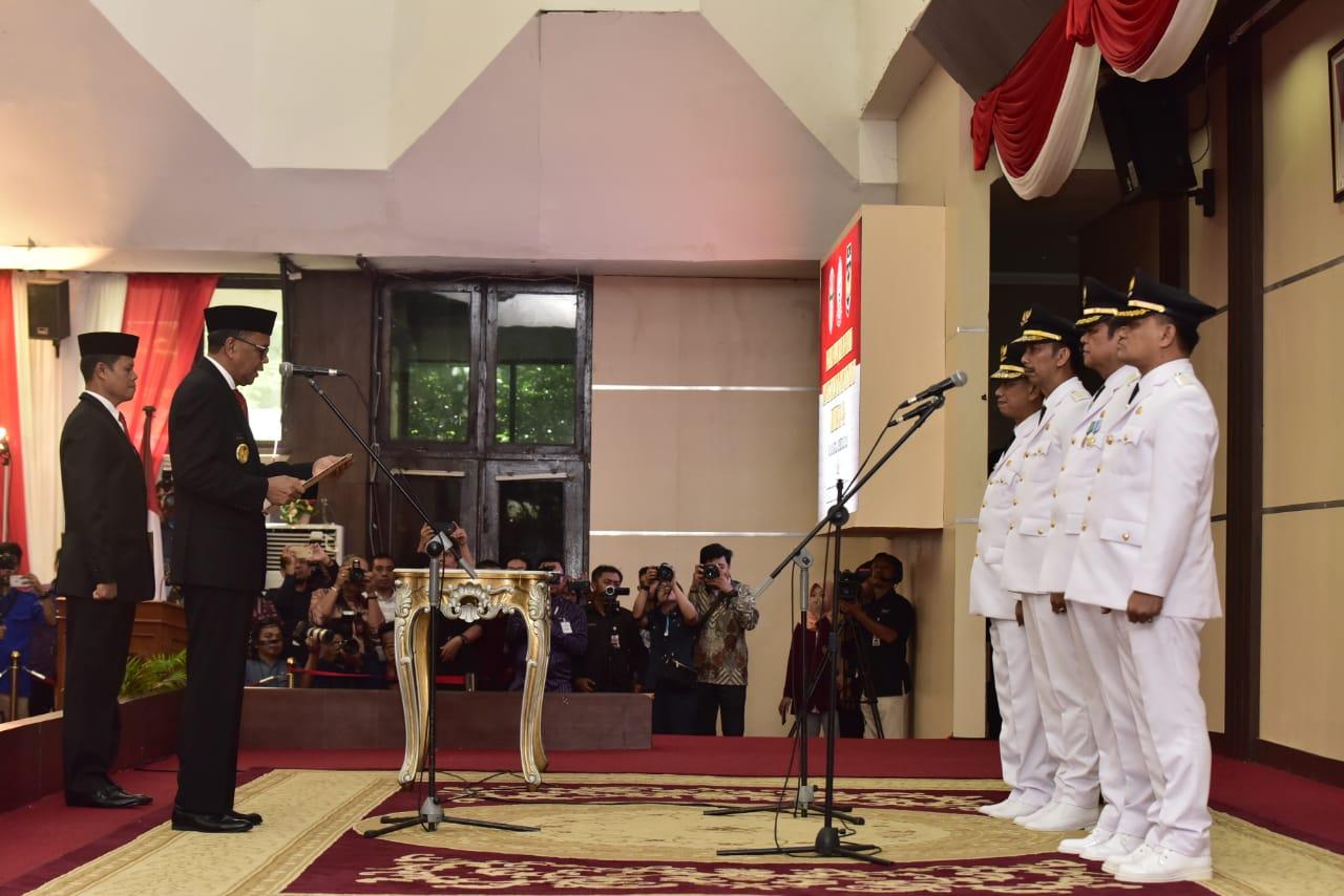 Gubernur Lantik Bupati-Wakil Bupati Wajo dan Luwu