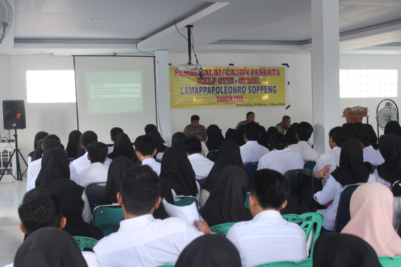 Kapolres Soppeng Berikan Pembekalan Mahasiswa STIE-STIMIK Peserta KKLP