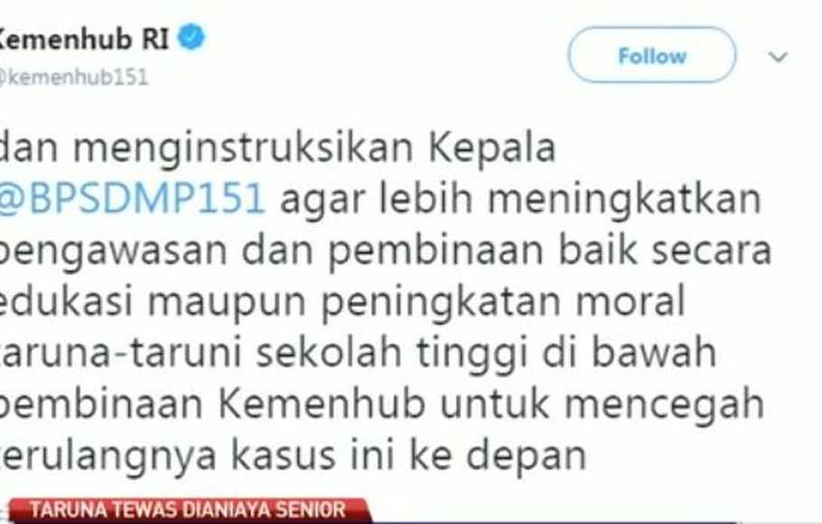Kemenhub Bentuk Tim Khusus Investigasi Kasus Penganiayaan di ATKP Makassar