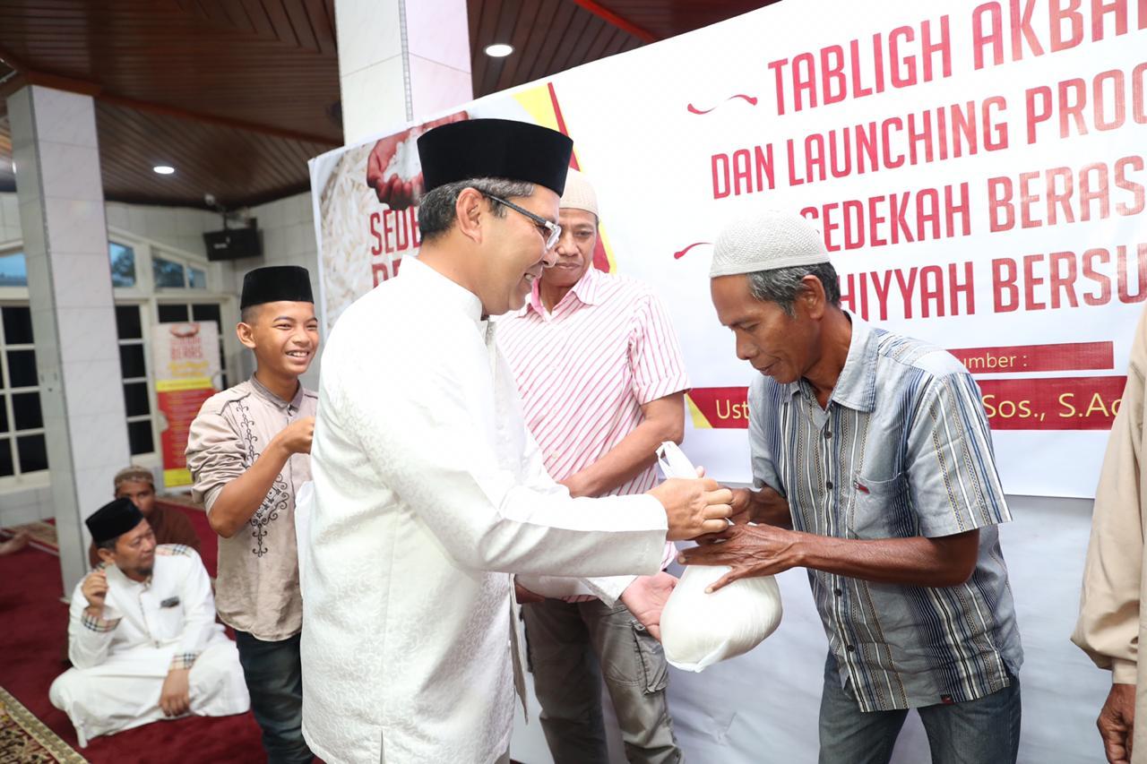 Launching Program Sedekah Beras Mardhiyyah Bersurga, Danny Ingatkan Memakmurkan Masjid