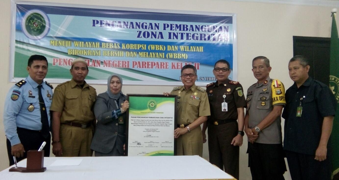 PN Parepare Terapkan Zona Integritas Menuju WBK Dan WBBM
