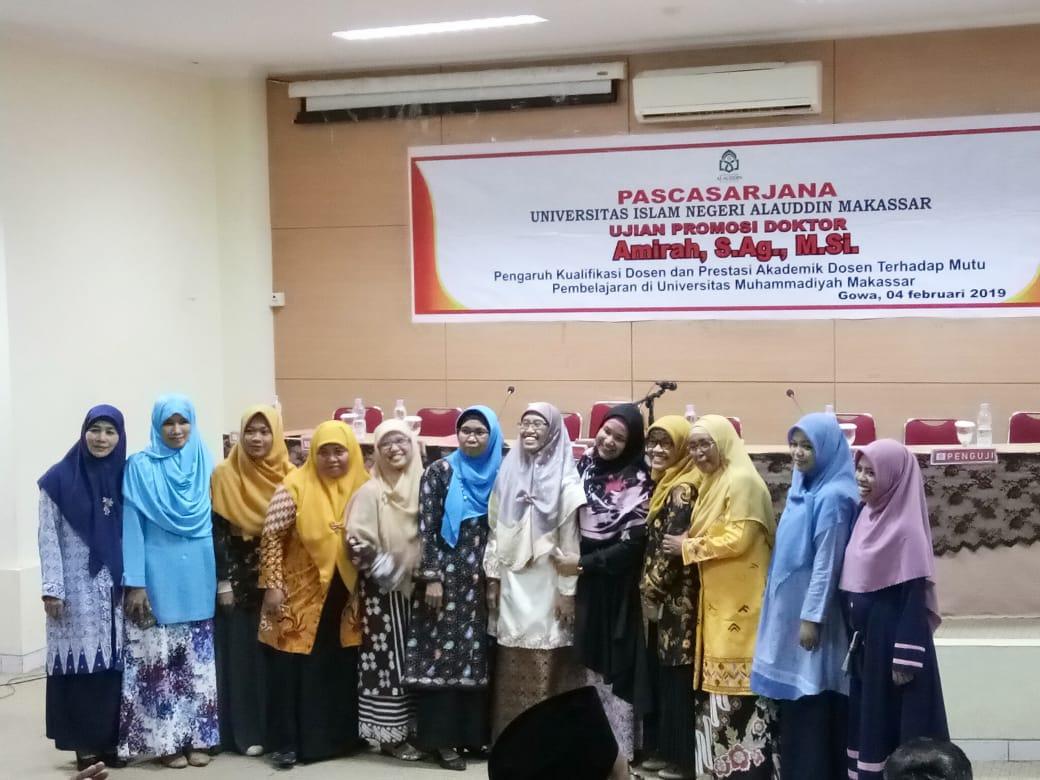 Selamat! Dosen FAI Unismuh Raih Doktor Terbaik di UIN Alauddin Makassar