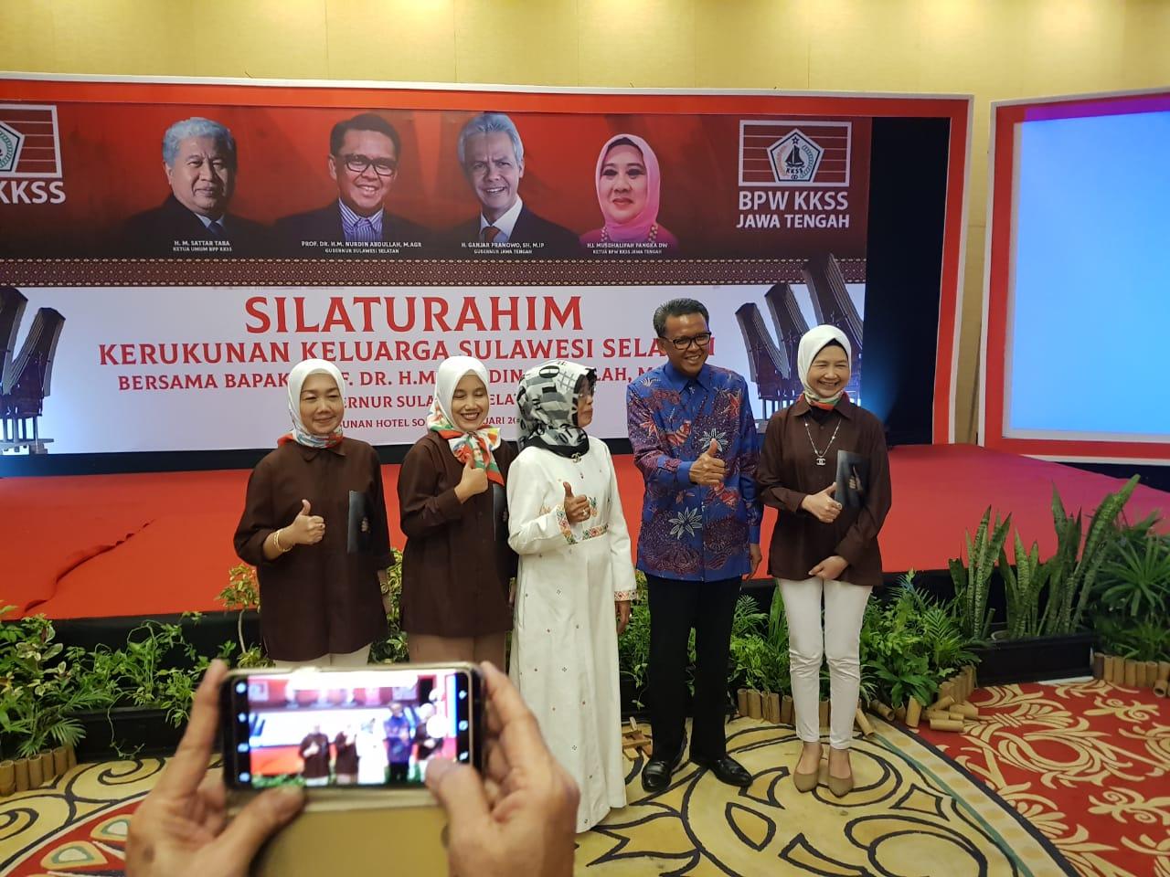 Silaturahmi KKSS, Gubernur Sulsel Puji Infrastruktur Indonesia