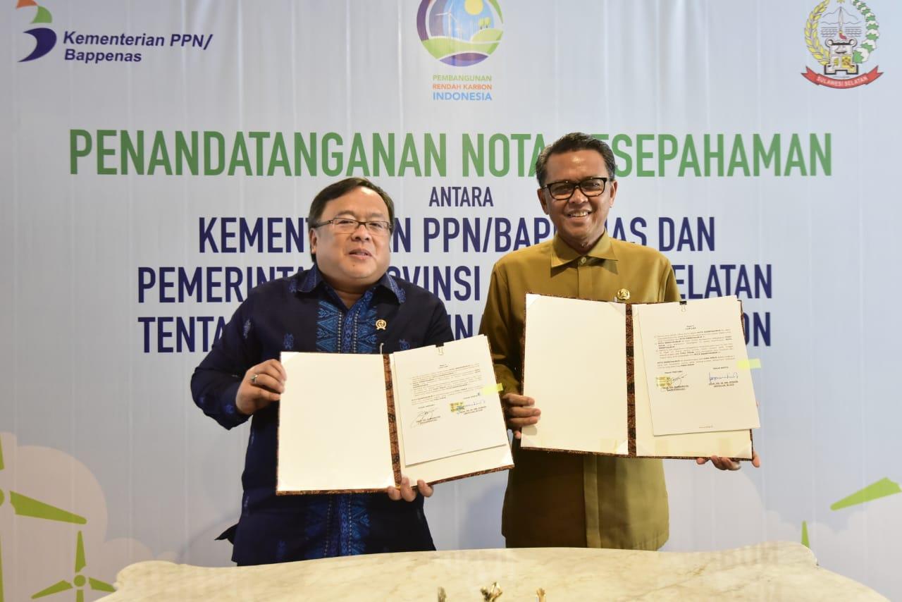 Sulsel Provinsi Pertama Sepakati Pembangunan Rendah Karbon