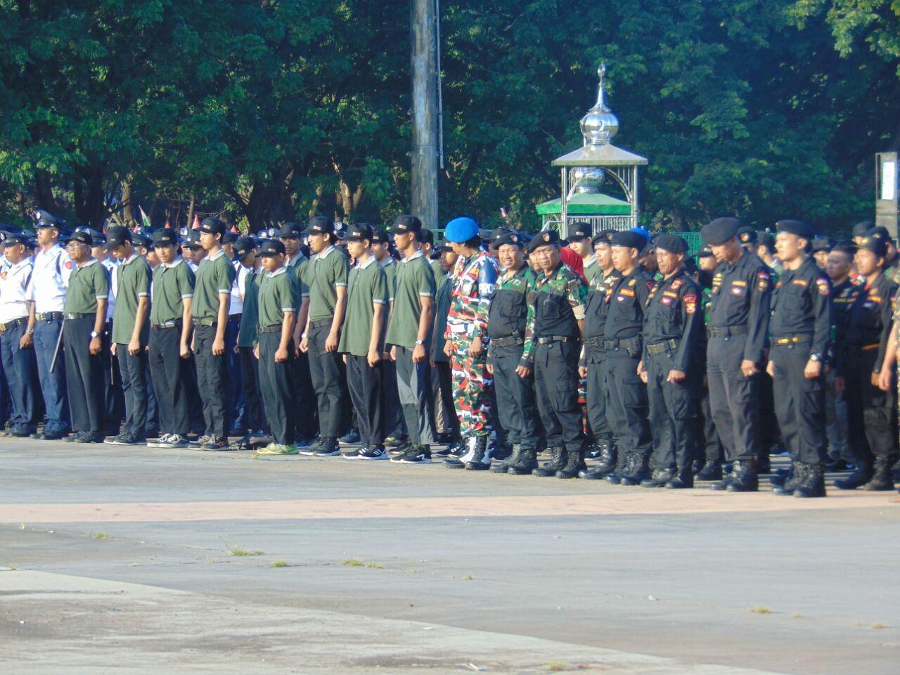100 Personel LDII Ikuti Apel Pengamanan Pemilu di Lapangan Karebosi Makassar