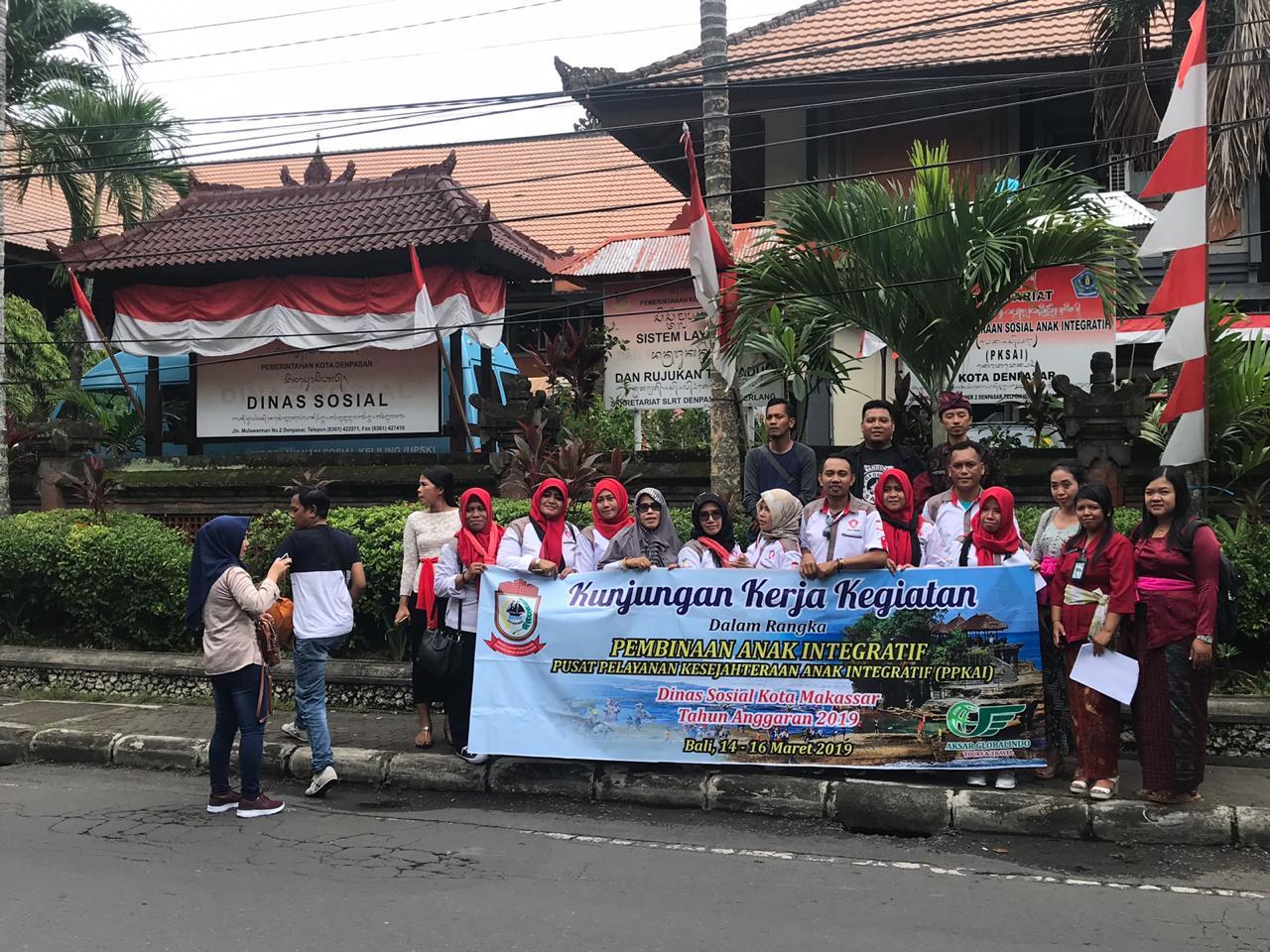 Dinsos Makassar Sharing Penanganan Masalah Sosial dengan Dinsos Denpasar