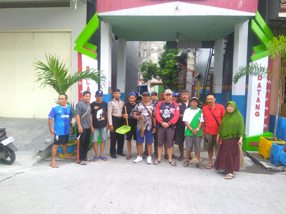 Kerja Bakti di Lorong, Kelurahan Melayu Baru Maksimalkan MTR