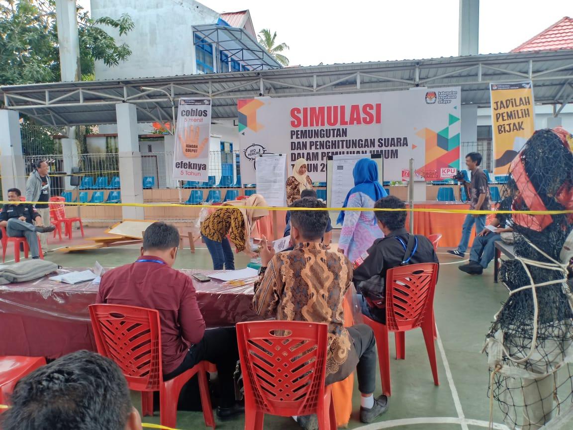 KPU Kepulauan Selayar Sukses Gelar Simulasi Pemilu