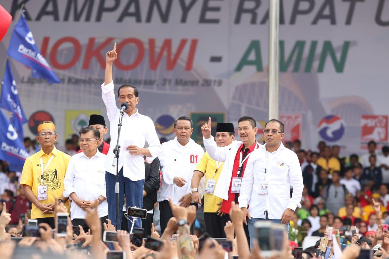 Ratusan Ribu Warga Banjiri Kampanye Akbar Jokowi, Danny : Terima Kasih Warga Makassar!