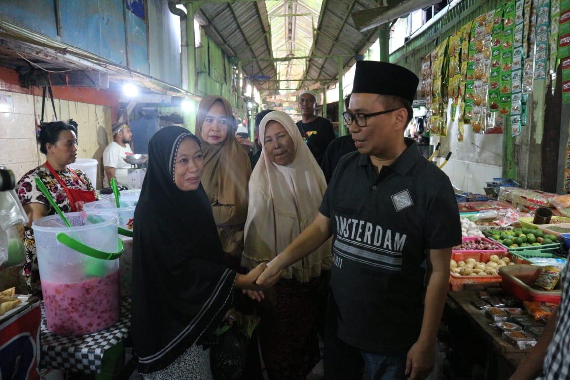 Ini Alasan Bakal Calon Walikota Makassar UQ Sukriansyah Blusukan ke Pasar Tradisional