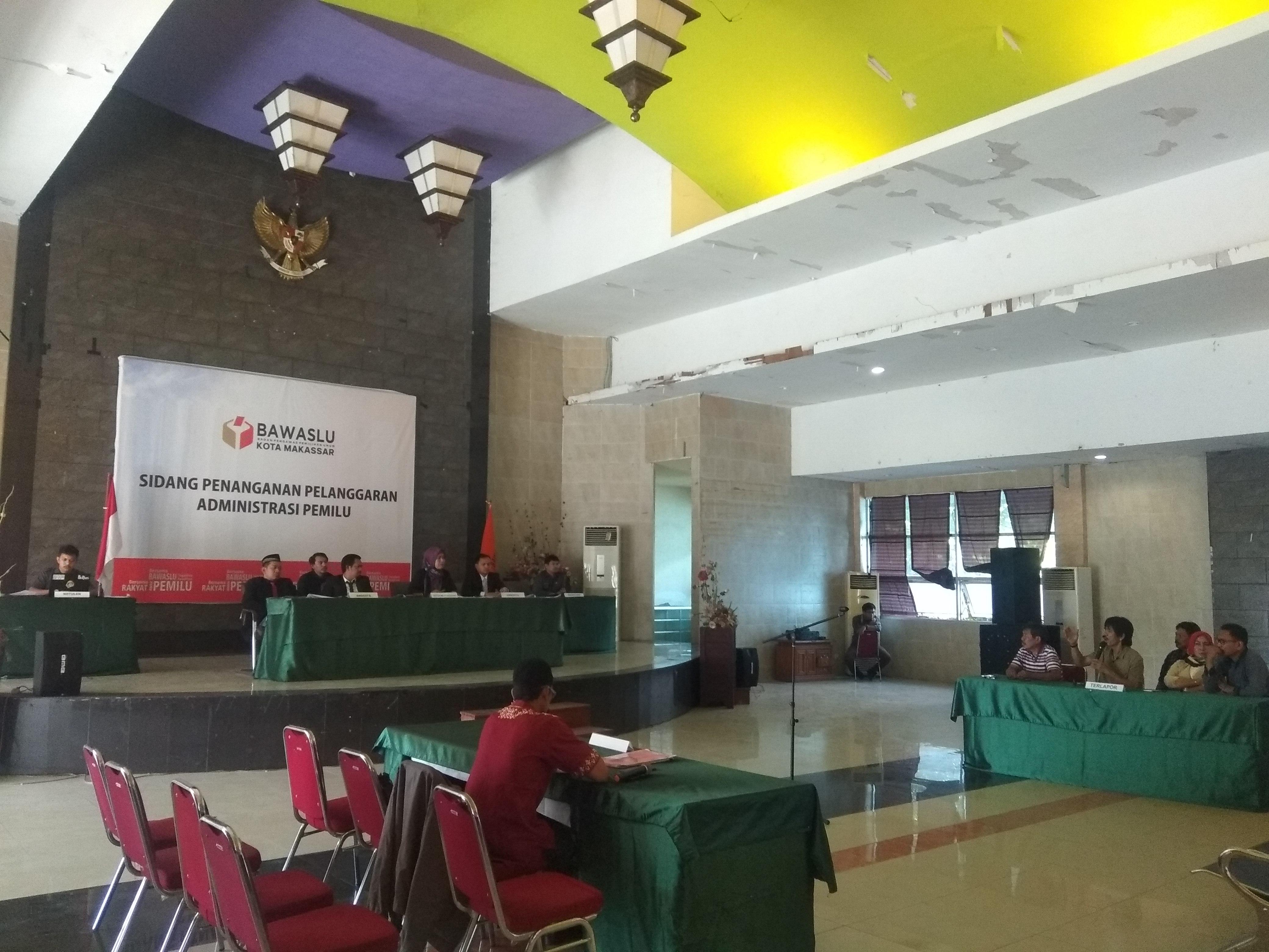 Terkait Dugaan Pelanggaran Admistrasi Pemilu, PPK Kecamatan Makassar disidang Bawaslu