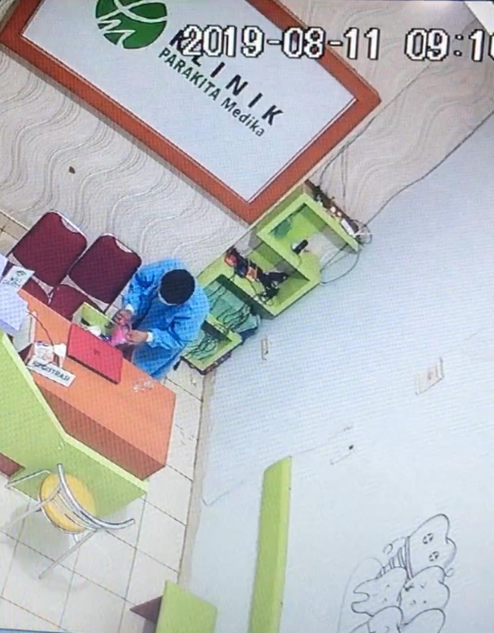 Gunakan Jas Lab dan Masker, Pencuri Gasak Laptop di Klinik Parakita, Minta Polisi Tangkap