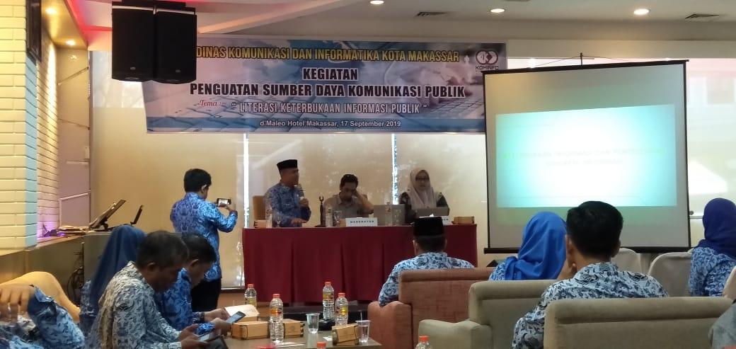 Kabag Humas PU Makassar Apresiasi Kegiatan Penguatan Sumber Daya Komunikasi Publik