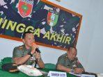 Rakor Jelang HUT TNI Dipimpin Danrem 141/ Tp