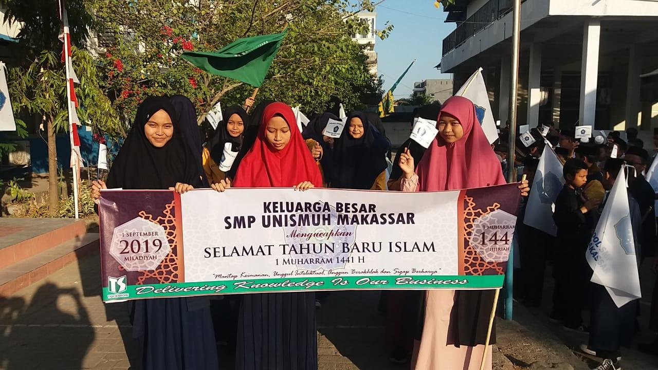 Semarak Tahun Baru Islam 1441 H, SMP Unismuh Gelar Pawai Hingga Lomba