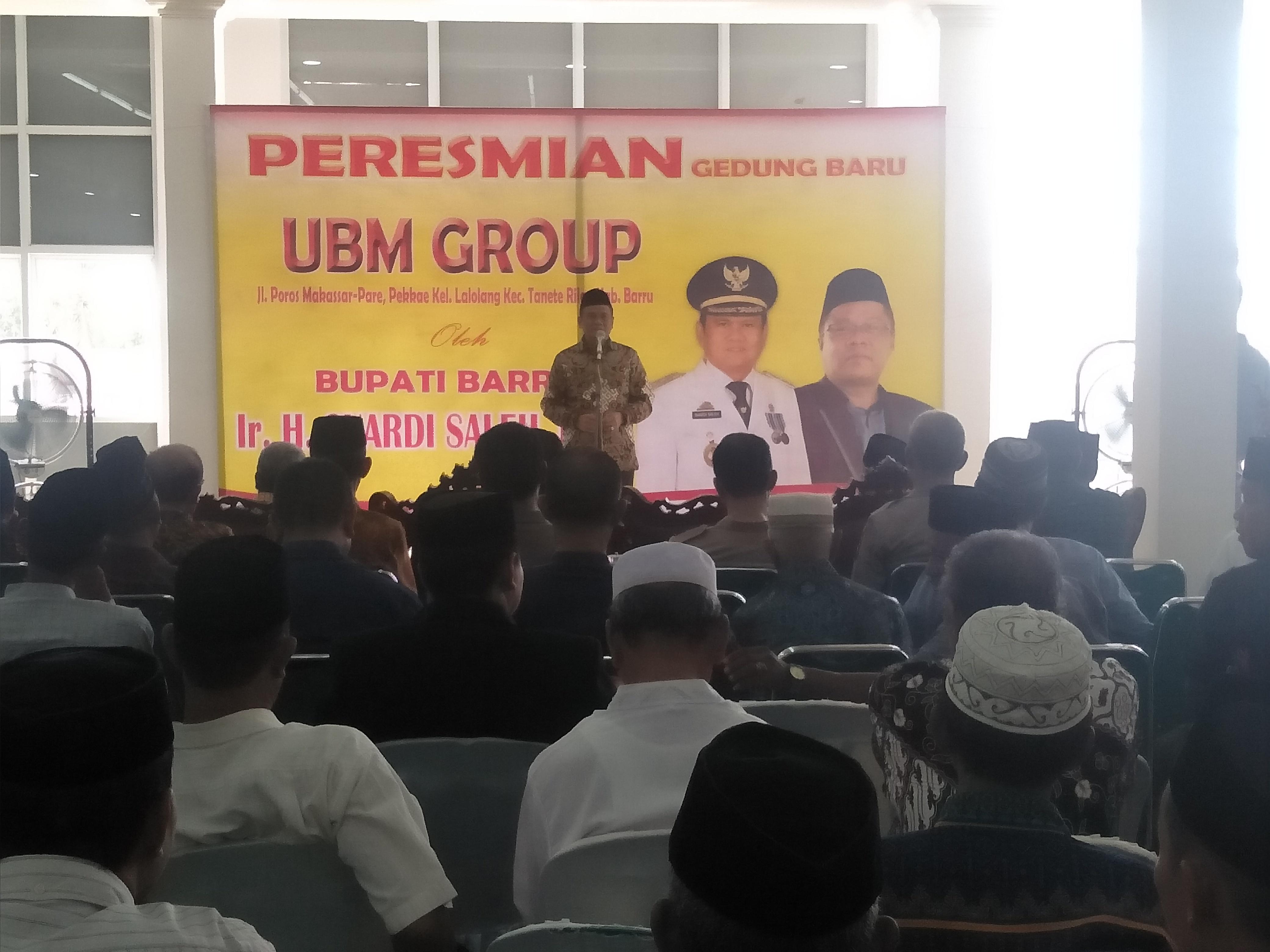 Bupati Suardi Saleh Resmikan Gedung Barru UBM Group, Ribuan Orang Hadir