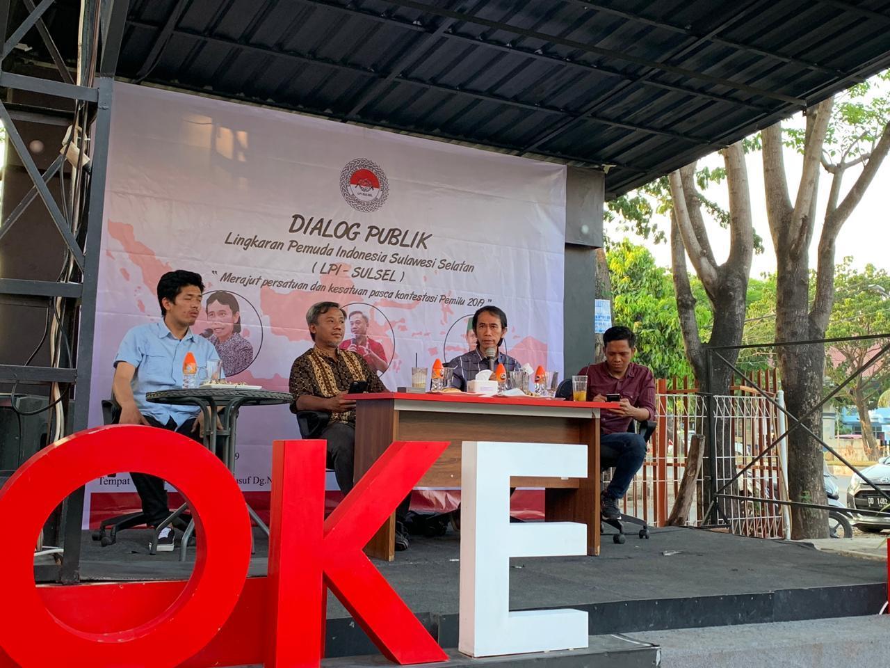 Kawal Pemerintahan Kabinet Indonesia Maju LPI Sulsel Gelar Dialog Publik