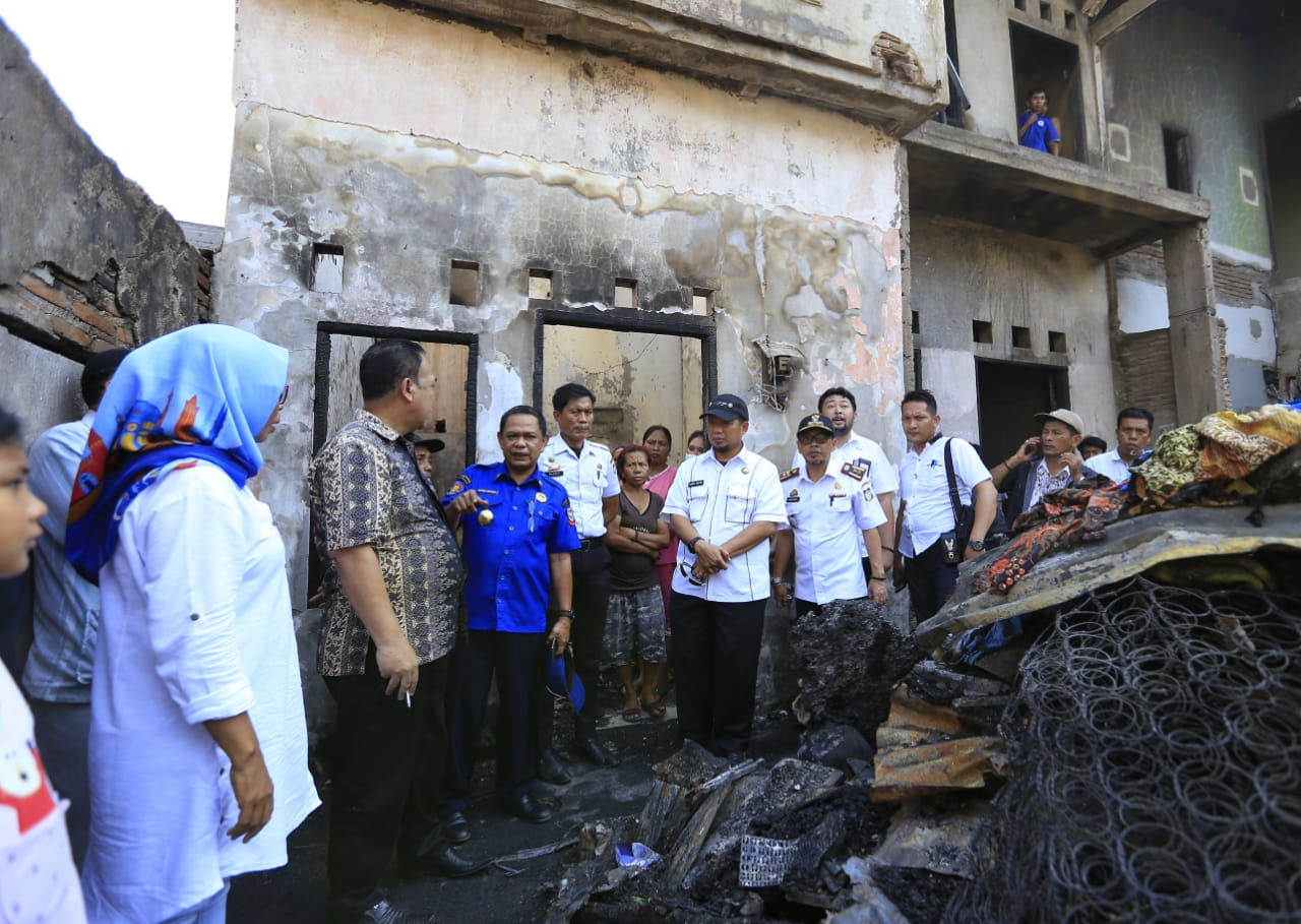 Kunjungi Lokasi Kebakaran, Iqbal Suhaeb Ingatkan Potensi Kebakaran