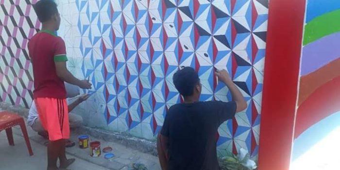 Pemuda Kepulauan Barrang Caddi Lakukan Pembenahan Lorong, Camat Sangkarang Beri Apresiasi
