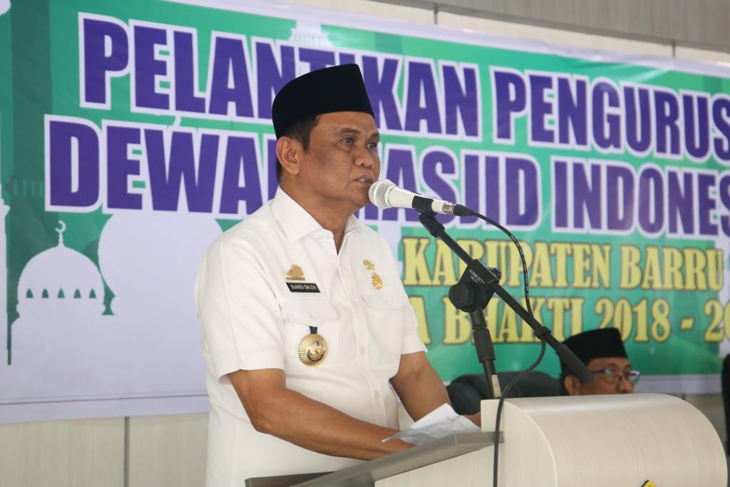 Pengurus Dewan Masjid Indonesia Kabupaten Barru Resmi Dilantik