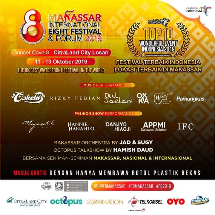 Warga Makassar Akui Event F8 Dongkrak Perekonomian Masyarakat