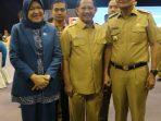 Bupati Suardi Saleh dan Hasnah Syam Hadiri Pelantikan Ketua TP PKK Tri Tito Karnavian