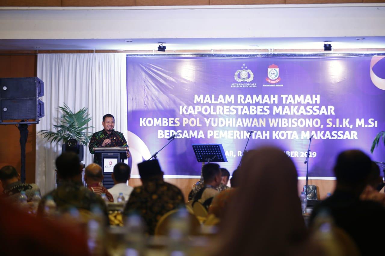 Hadiri Ramah Tamah Kapolrestabes Makassar, Iqbal : Semoga Makassar Makin Aman