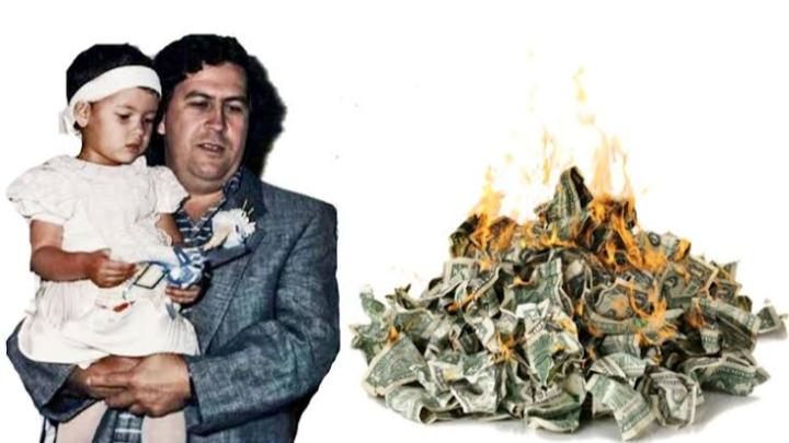Hangatkan Putrinya yang Kedinginan Seorang Gembong Narkoba Bakar Uang 20 Miliyar