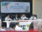 Iqbal Suhaeb Pimpin Rapat High Level Meeting TPID 2019