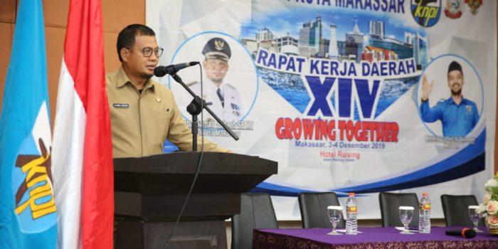 Pemuda Harus Bergerak, Pesan Iqbal Suhaeb Saat Raker KNPI Kota Makassar