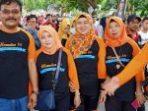Membludak Peserta Jalan Sehat KSP Berkat Berhadiah Umroh