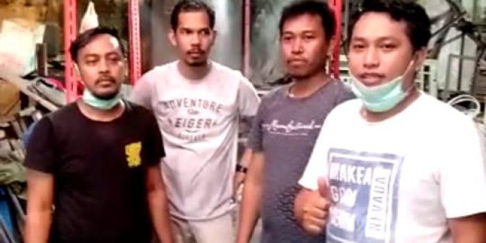 Cegah Covid-19, Alumni Teknik Mesin Unhas Buat Bilik Desinfektan
