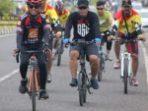 Danyon C Pelopor Perkuat Sinergitas dengan TNI dan Pemkab Bone Melalui Gowes