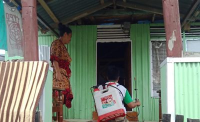 Satgas Kacamatayyamo Disinfeksi Rumah Warga dan Masjid