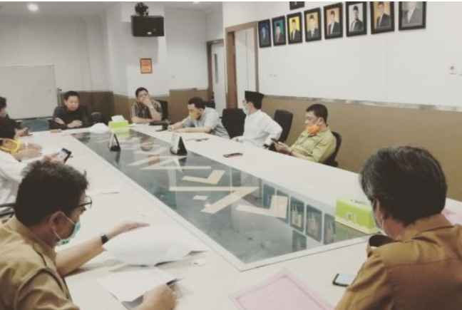 Dewan Undang DPU Kota Makassar Bahas Realokasi Anggaran Penanganan Covid-19