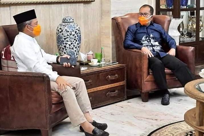 Silaturahmi, Pj Wali Kota Makassar Sharing Bersama Danny Pomanto
