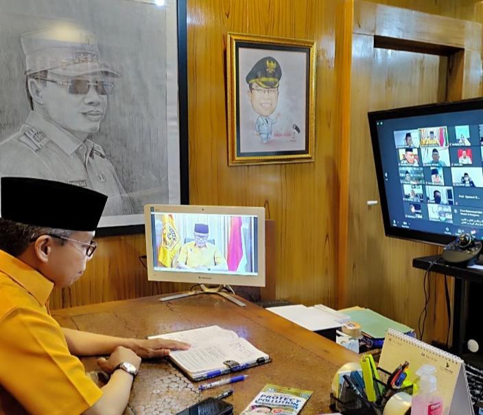 Melalui, Video Konferensi MKGR Sulsel Gelar Halalbihalal Virtual