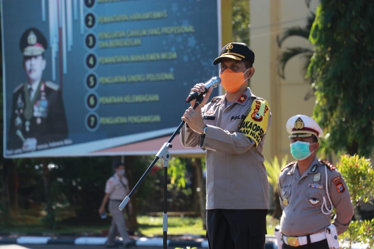 Wakapolda Sulsel Cek Kesiapan Ops Aman Nusa II (Tahap III) 2020 Dalam Rangka Penanganan Covid-19 Polda Sulsel
