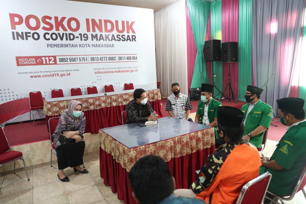 Pj Wali Kota Makassar Apresiasi GP Ansor Terlibat Beri Edukasi Covid-19 ke Warga