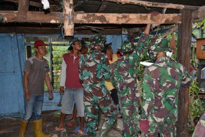 Satgas TMMD ke 108 Bedah Rumah di Bontorapppoa