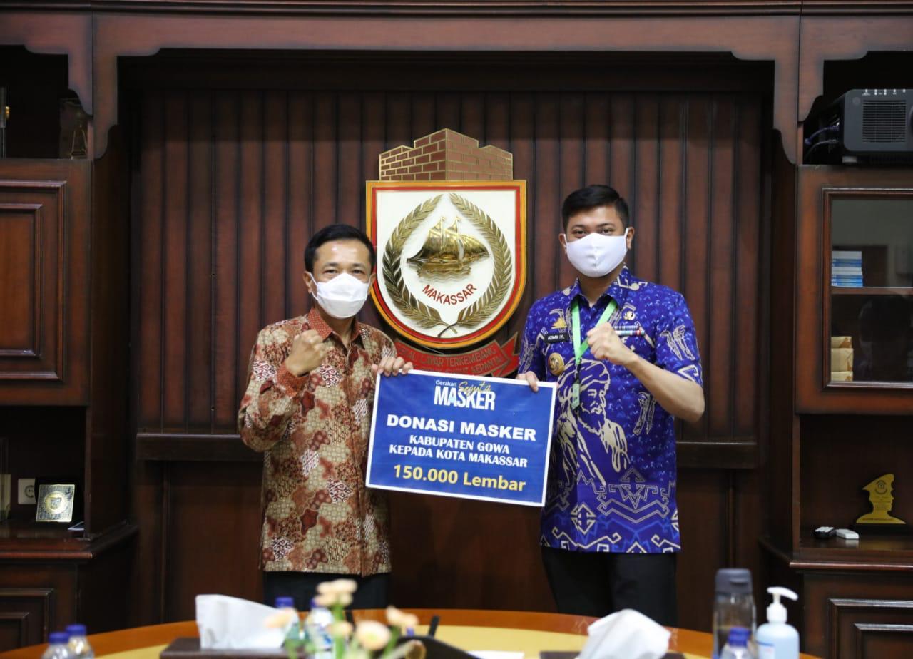 Tekan Penyebaran Covid-19, Pj Walikota Makassar dan Bupati Gowa Bersinergi