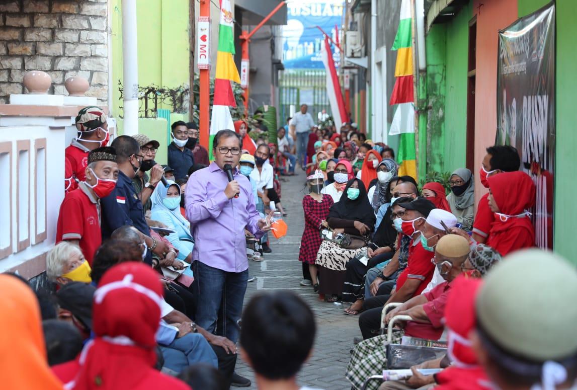 Sambangi Kelurahan Kampung Pisang, Danny Disambut Layaknya Walikota Makassar