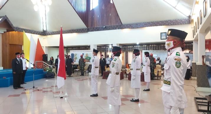 Wawali Kota Parepare Kukuhkan Pasukan Pengibar Bendera Pusaka Tahun 2020