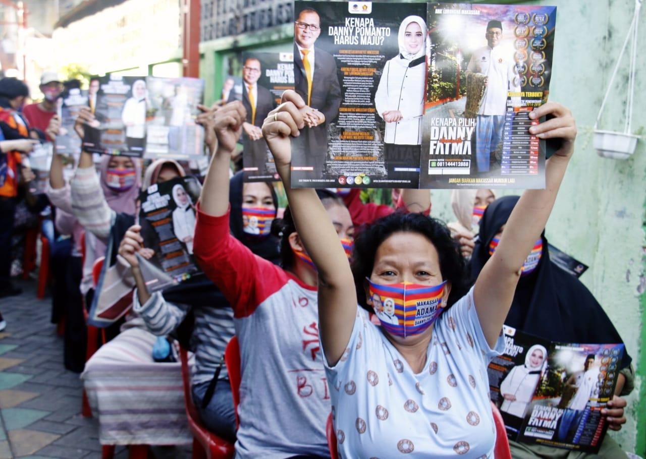 Fatma Pasangan Danny Serukan Emak-emak Cek DPS Pilwali Makassar