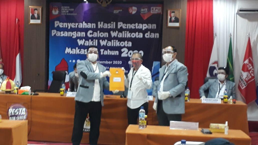 "Pasangan ""Adama"" Resmi Ditetapkan Sebagai Calon Wali Kota dan Wakil Wali kota di Pilkada Makassar 2020"