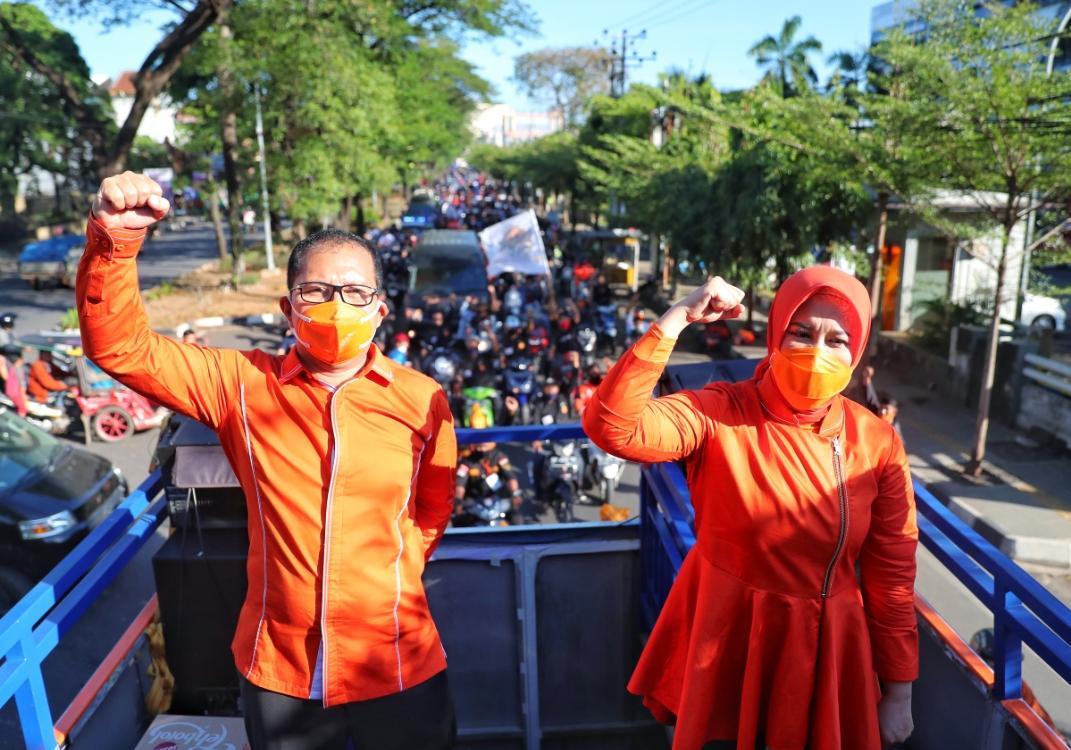 Resmi Mendaftar di KPU, Insya Allah Selangkah Lagi Danny-Fatma Jadi Walikota dan Wakil Walikota Makassar