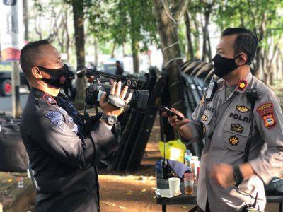 Danyon C Pelopor Wawancarai Kapolsek Panakukan