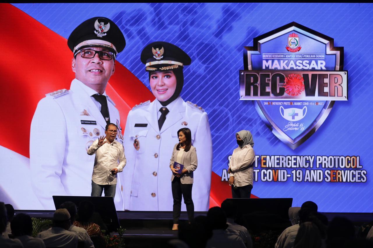 Libatkan Seluruh Elemen Masyarakat, Danny-Fatma Resmi Launching Makassar Recover